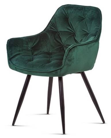 Jedálenská stolička ELIZABETH zelená/čierna